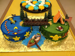 boy scout bridging cake christy u0027s cakes pinterest