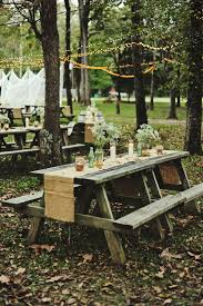 picnic style outdoor wedding reception captured by moonbelle