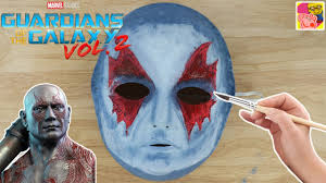 diy how to make a drax mask from guardians of the galaxy