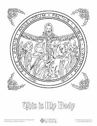 this is my body free hand drawn catholic coloring pictures