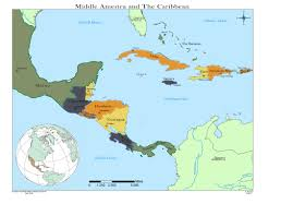 Caribbean Ocean Map by Political Map Of Central America And The Caribbean Nations Map Of