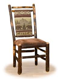 Rustic Dining Chair Upholstered Log Dining Chairs Rustic Furniture Log Cabin