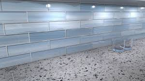 big blue 3x12 glass tile perfect for kitchen backsplashes and
