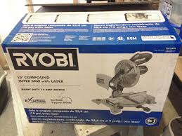 ryobi 10 inch compound miter saw assembly and use review youtube