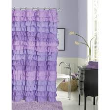 Black Ruffle Shower Curtain Bathroom White Ruffle Shower Curtain For Cozy Bathroom Decoration