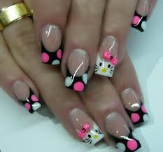 nail art new nail art designs hello kitty inspired nails using