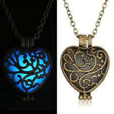 steampunk necklace vintage images Buy oneckoha vintage glow in the dark heart jpg
