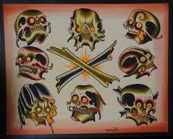 traditional skull flash free traditional skull