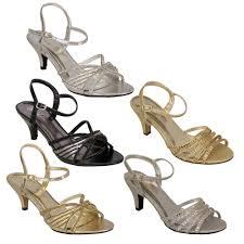wedding shoes mid heel sandals womens mid heel diamante buckle open toe wedding