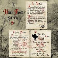 Printable Halloween Poems by Hocus Pocus Spell Page Set