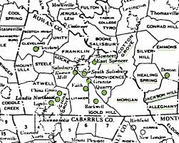 Rowan Map North Carolina Sarratt Sarrett Surratt Families Of America