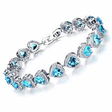 bracelet fine jewelry images Platinum classic heart micro zircon bracelet fine jewelry for jpg