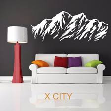 decorative wall stencil promotion shop for promotional mountain range vinyl wall art room sticker decal door window stencils mural decor