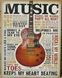wall decor for home bar music inspires me tin sign metal poster vtg guitar wall art home