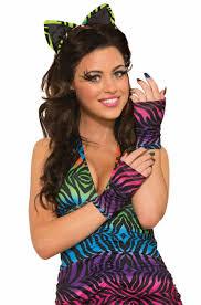 80s rock tiger gloves