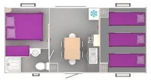 couvert lit cottage trigano bardage bois 1 chambre avec lit 140 et 1 chambre