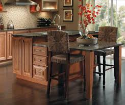 Cherry Cabinet Kitchen Cherry Cabinets In Casual Kitchen Diamond Cabinetry