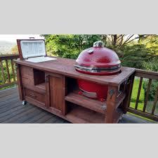 Green Egg Kitchen - grill u0026 chill table for big green egg kamado joe or primo