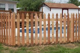 picket fences strauss fence company cedar wood picket fence