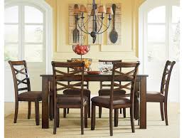 Transitional Chandeliers For Dining Room by Standard Furniture Redondo Casual Transitional 7 Piece Dining Set