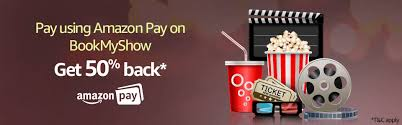 bookmyshow offer amazon pay bookmyshow offer 50 cashback upto 100 on movie ticket