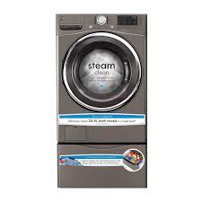 Kenmore Elite Washer Pedestal Kenmore 41383 4 3 Cu Ft Front Load Washer W Steam Metallic Silver