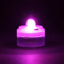 remote controlled purple submersible led light