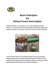 Kitchen Grease Trap Design Grease Interceptor Sizing Worksheet Photos Dropwin