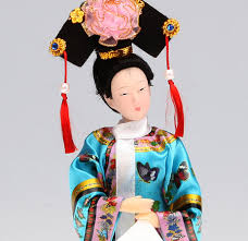 Decoration Arts crafts girl ts married Fine China Qing people