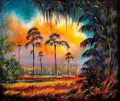 keep your cool at annual cool art show in st pete tbo com paynes prairie state reserve by florida highwaymen artist robert l lewis is among