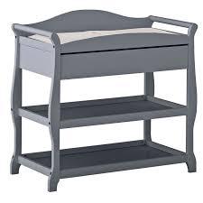 Sleigh Changing Table Sleigh Changing Table With Drawer In Gray 00524 58g