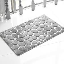 Silver Bath Rugs Honana Bx 212 3d Pebbles Bath Rug Natural Absorbent Rubber Bath
