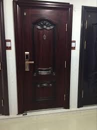 Metal Door Designs Iron Main Gate Designs Interior Metal Security Safety Wooden Door