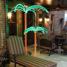 Christmas Outdoor Decor by 7 U0027 Deluxe Led Lighted Palm Tree Palm