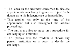 Challenge Procedure Arbitration Act Challenge Of Arbitrator The Appointment Of An