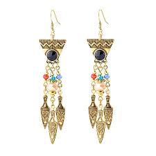 Costume Chandelier Earrings Vintage Long Chandelier Earrings Bollywood Style Gold Plated