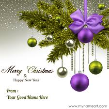 write name on merry and happy new year card wishes