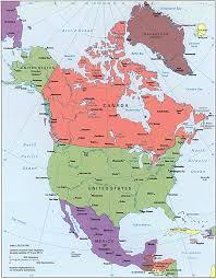 Physical Map Of North America North America Political Map Gif
