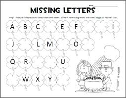 printable missing letters quiz missing letters st patrick s day abc worksheet squarehead teachers
