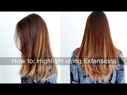 which works best highlights or lowlights to blend grey hair how to highlight lowlight your hair using hair extensions youtube