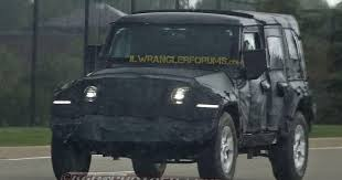 headlights jeep wrangler 2018 jl wrangler led headlights and fender lights spied