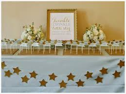 white and gold baby shower simple details event design twinkle twinkle