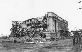 bureau commerce war torn bureau of commerce building manila philippines flickr