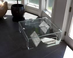 coffee tables dazzling rectangle contemporary clear acrylic