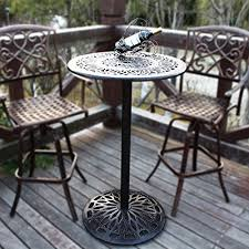 Outdoor Bar Table And Stools Homefun Outdoor Bar Height Table Bistro Pub Table Cast Aluminum