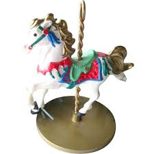 snow carousel hallmark keepsake ornament
