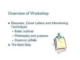writing an effective resume and cover letter career and