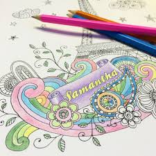 the personalized art therapy coloring book hammacher schlemmer
