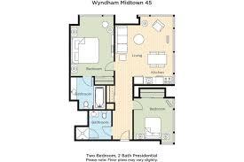Midtown 4 Floor Plans by Midtown 2 Bedroom Wyndham Condo Sleeps 6 Condominiums For Rent