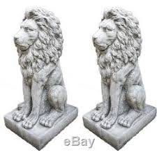 lion garden statue large proud lion statue pair garden ornament patio home